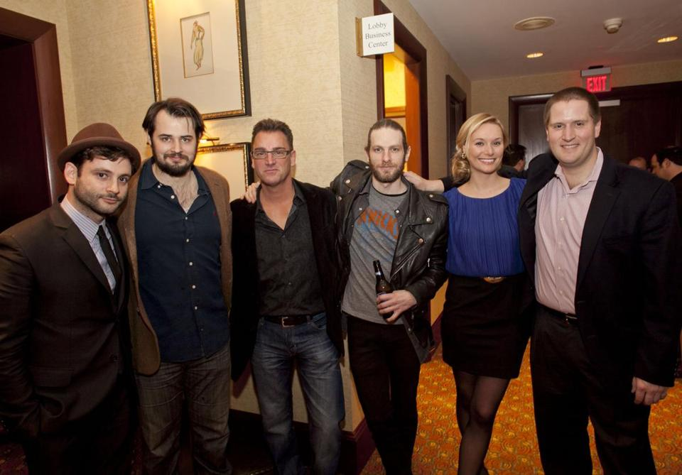 "Tommy Agriodimas, Jack Bryan, Keith Dorrington, Julian Ungano, Laura Dubois, and John Snyder at the screening of ""And After All.''"