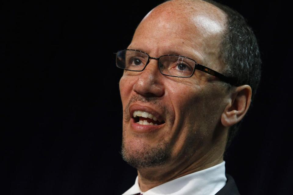 Thomas Perez would replace Hilda Solis, a former California congresswoman and the nation's first Hispanic labor secretary.