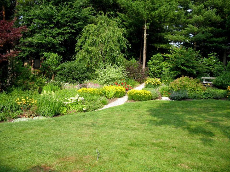 One of the many gardens featured during a previous Concord Museum Garden Tour.
