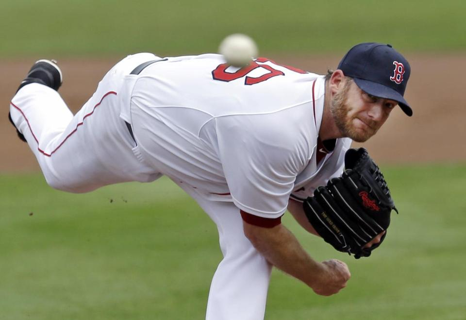 Ryan Dempster started against the Orioles in a spring training game.