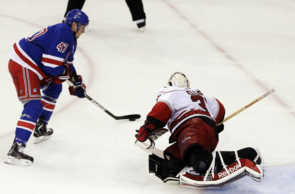 The Rangers' J.T. Miller scored from a tough angle in the shootout to get the Rangers the win.