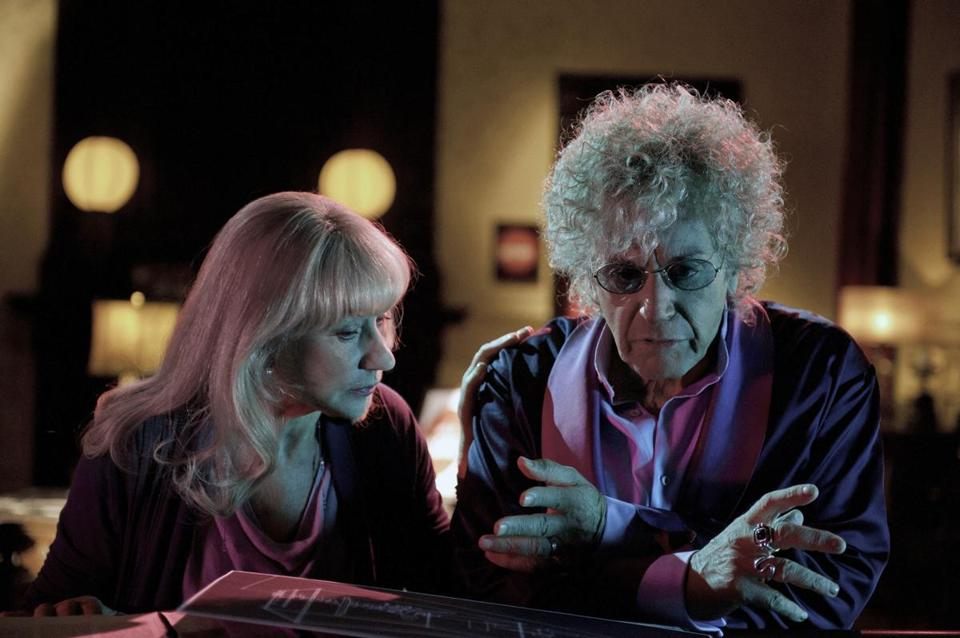 "Helen Mirren and Al Pacino in a scene from the HBO movie ""Phil Spector."""