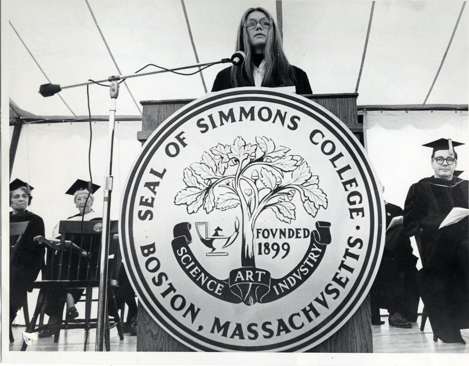 Gloria Steinem spoke at Simmons' commencement.