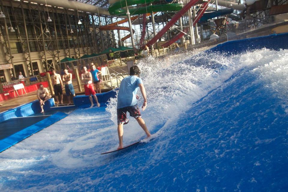 Flowriding at Jay Peak Resort's Pump House in Vermont makes it feel like summer all year round.
