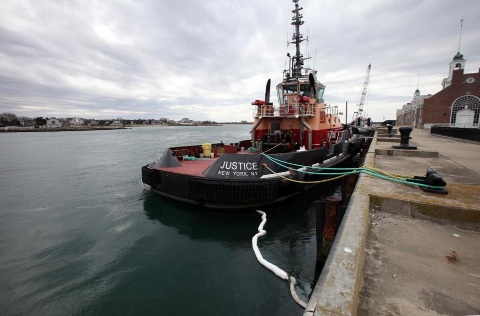 The tugboat was freed from where it ran aground in Wareham and towed to the Mass. Maritime Academy.