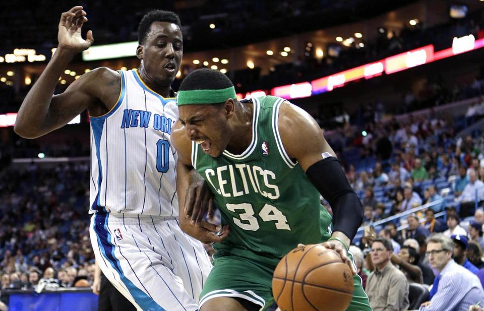 Paul Pierce and the Celtics came up short in New Orleans on Wednesday.