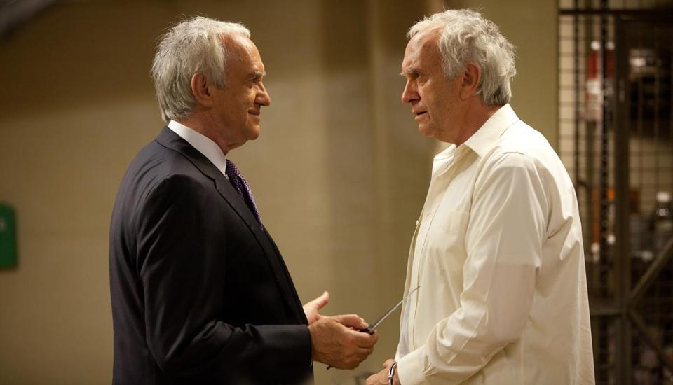 "Jonathan Pryce plays both the president and the president's evil dopple-ganger in the new action film ""G.I. Joe: Retaliation."""