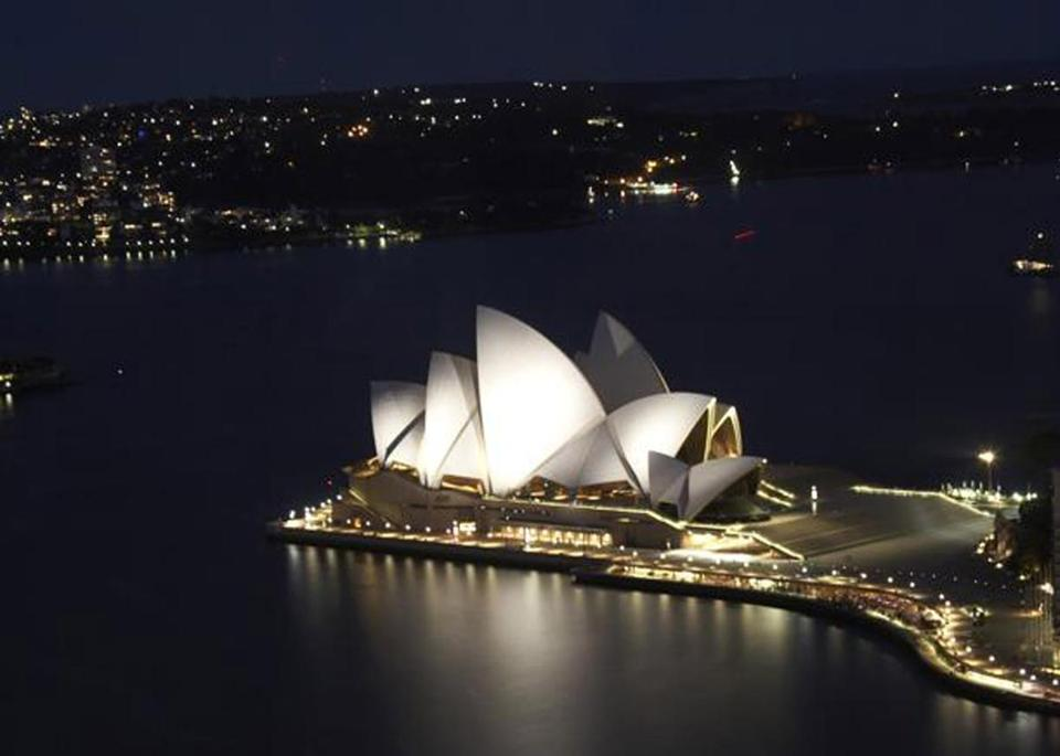 Sydney Opera House in Sydney Harbor opened in 1973.