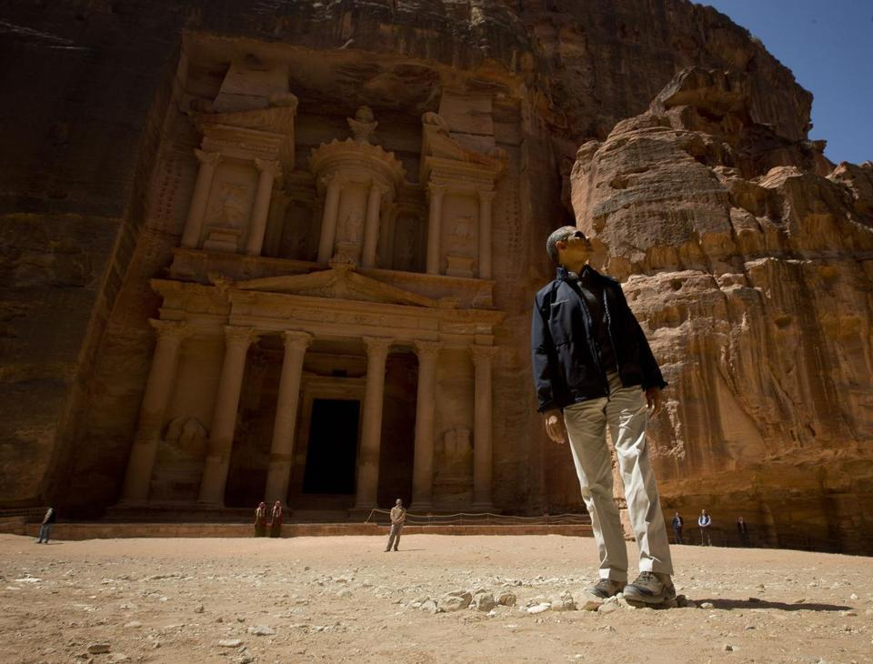 President Obama visited the Treasury during his tour of the ancient city of Petra in Jordan on Saturday.