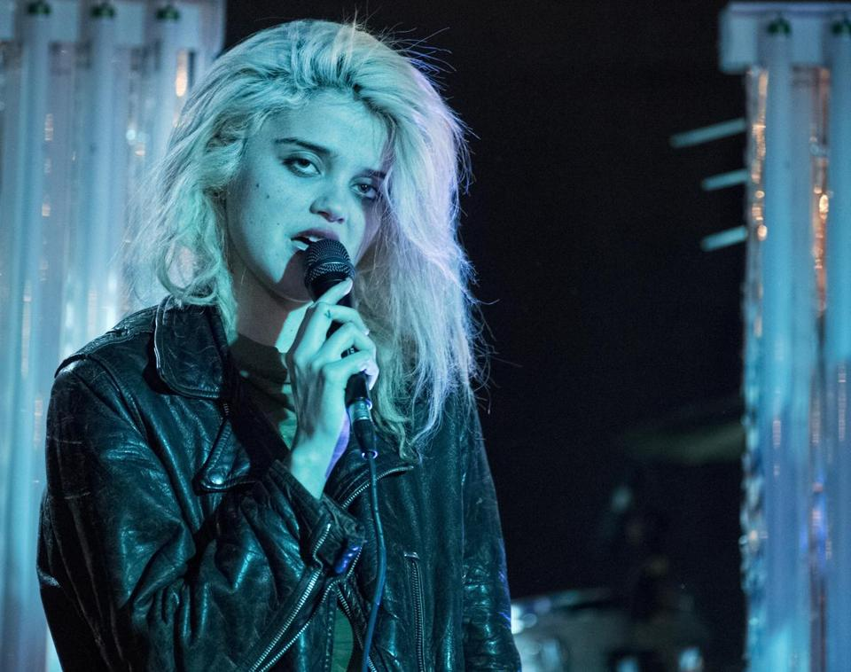 Sky Ferreira was backed by a four-piece band on Sunday.