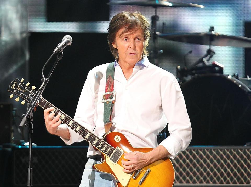 Paul McCartney Playing At Fenway Park