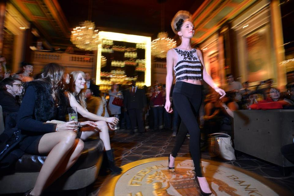 A Zara and Salon Acote fashion show at Bond restaurant and Lounge at the Langham hotel.