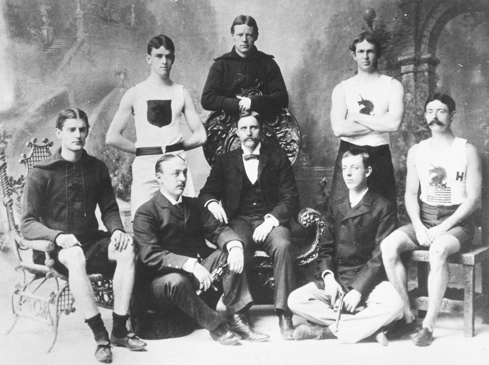 Members of the American team for the 1896 Olympics in Athens, the first modern games.