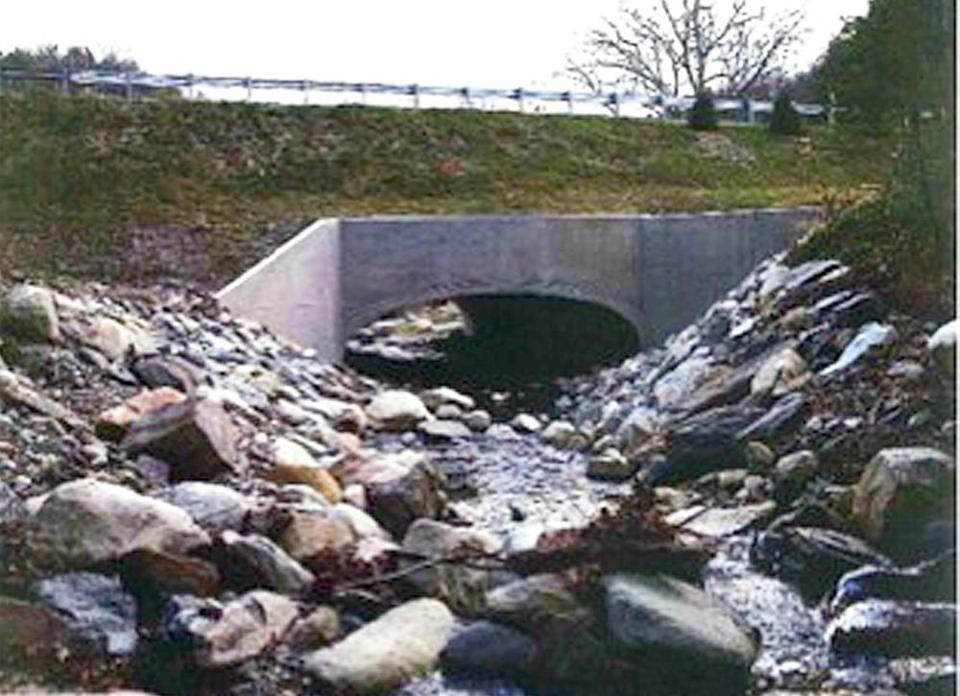 A culvert destroyed during Tropical Storm Irene has been replaced in Townshend, Vt.