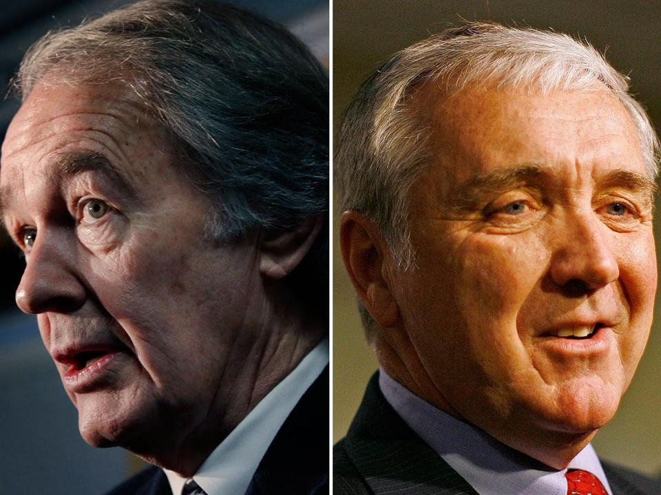 US Representative Edward J. Markey (left) and former US attorney Michael J. Sullivan.