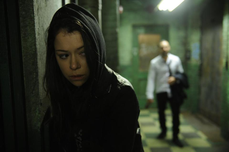 "Tatiana Maslany stars as Sarah in the mysterious BBC America show ""Orphan Black."""
