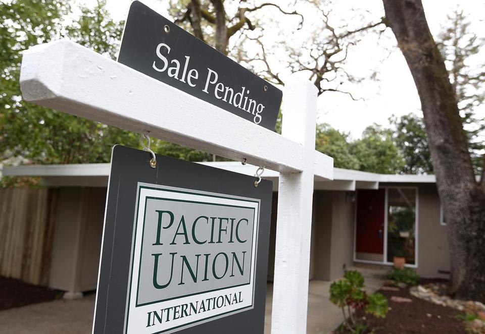 Despite the drop in pending homes sales, signed contracts are 8.4 percent higher than a year ago.