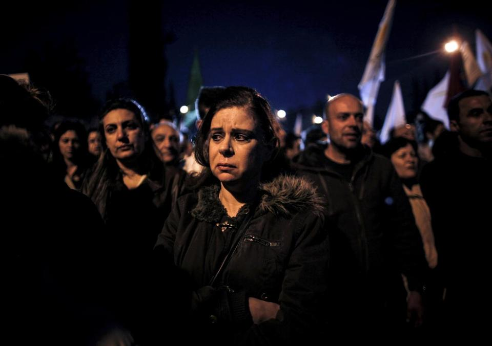 Protests continued in Cyprus Wednesday. The president opened a criminal investigation into how banks nearly collapsed.