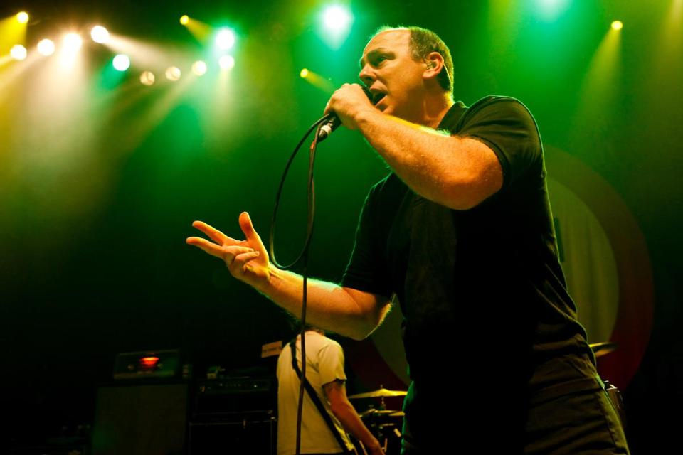 Greg Graffin (above, in 2010) and Bad Religion played a set of punk anthems at the House of Blues Thursday.