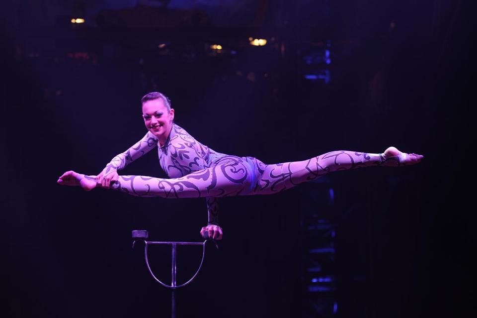 "Among the highlights from the Big Apple Circus's 35th anniversary show, ""Legendarium,"" is contortionist Elayne Kramer."