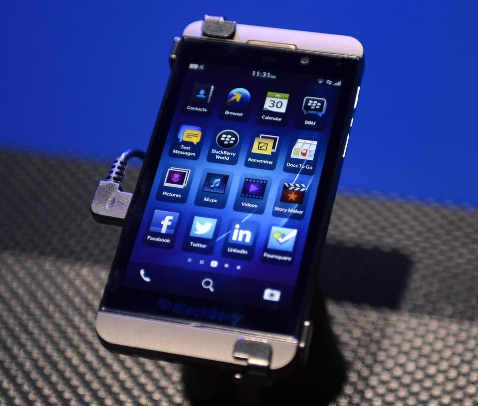The BlackBerry Z10 was among a line of phones the firm unveiled Jan. 30.