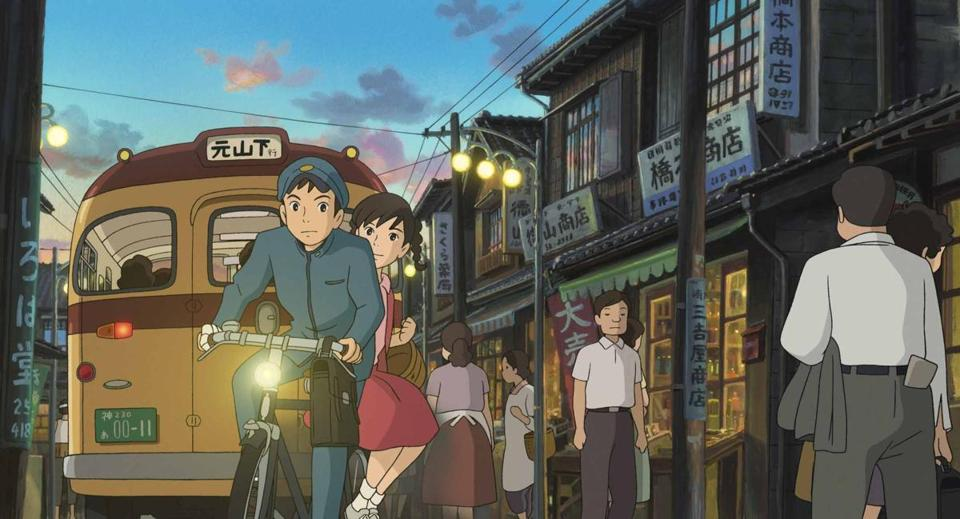 "In ""Up on Poppy Hill,"" which Hayao Miyazaki co-wrote, the characters are voiced by Hollywood actors and actresses."