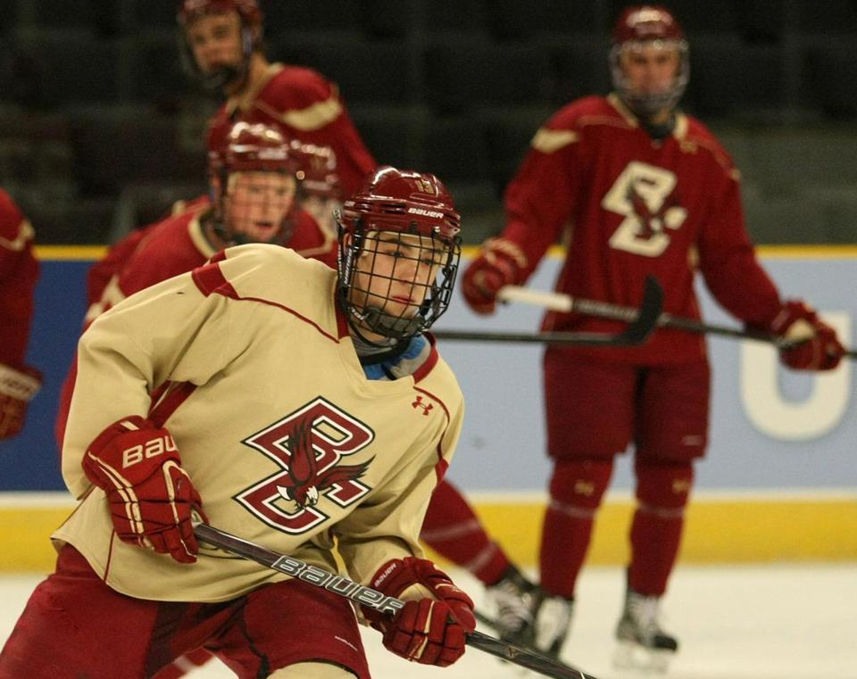 Johnny Gaudreau and BC (22-11-4) take on Union (21-12-5) Saturday night in an East Regional semifinal.