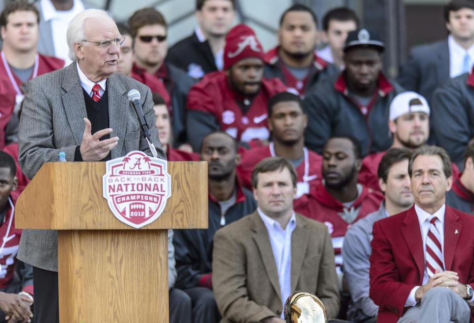 In January, Mr. Moore made his final speech as Alabama celebrated its third national championship in four years.