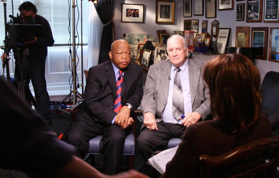 "US Representative John Lewis and Mr. Wilson got together for a ""Good Morning America"" interview in 2009."