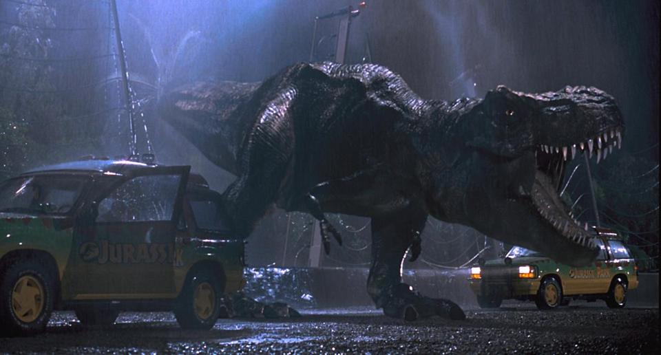 "The 3-D treatment enhances some of the thrills already present in Steven Spielberg's ""Jurassic Park."""