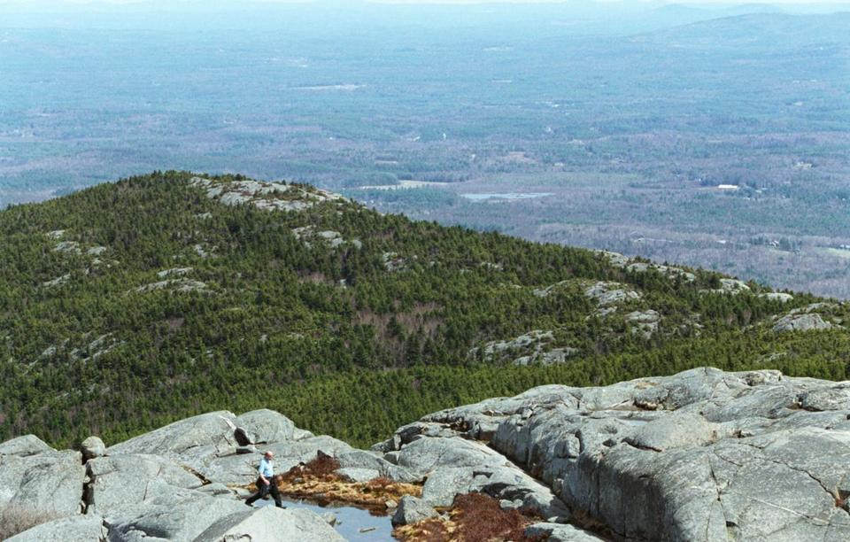 The view from atop Mount Monadnock in Jaffrey, N.H.