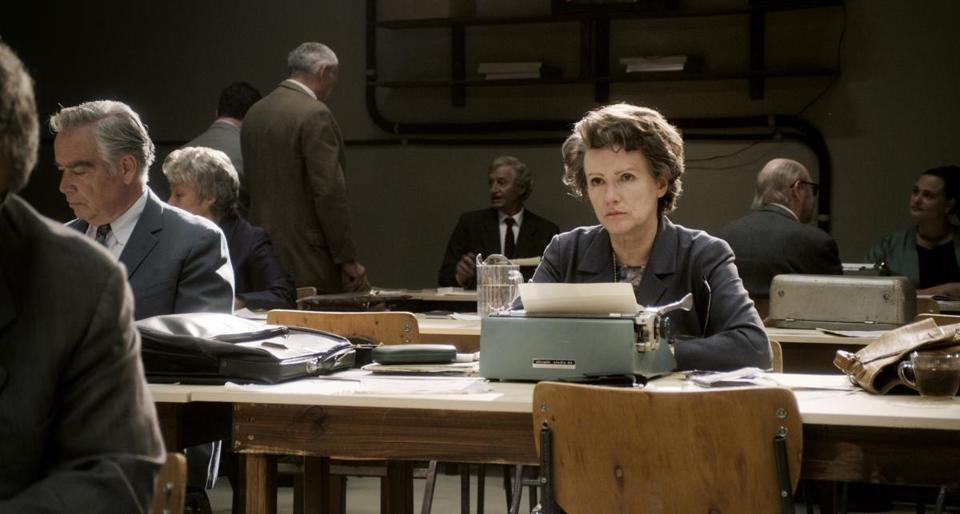 "Barbara Sukowa stars in Margarethe von Trotta's film ""Hannah Arendt,"" about the philosopher-writer who covered the Adolf Eichmann trial in 1961."