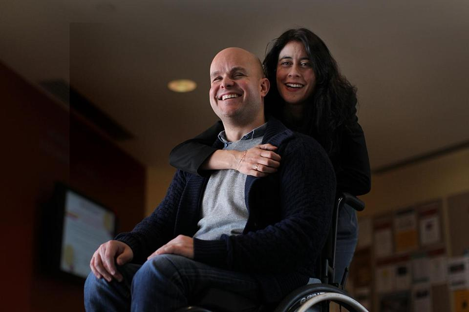 Mark Pollock, who has been blind since the age of 22, was seriously injured in a fall just four weeks before he and his girlfriend Simone George were to be married.