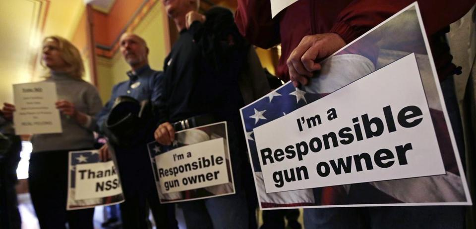 Gun rights advocates at the Conn. Capitol railed against restrictions as misguided and unconstitutional.