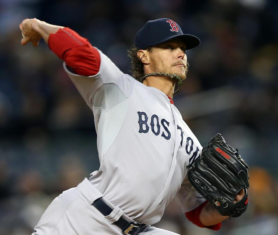 Clay Buchholz pitched seven innings, giving up one run on six hits, as the Red Sox defeated the Yankees for a second time to start the season.
