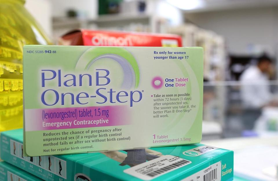 """Morning-after pill"" on display at a California pharmacy."