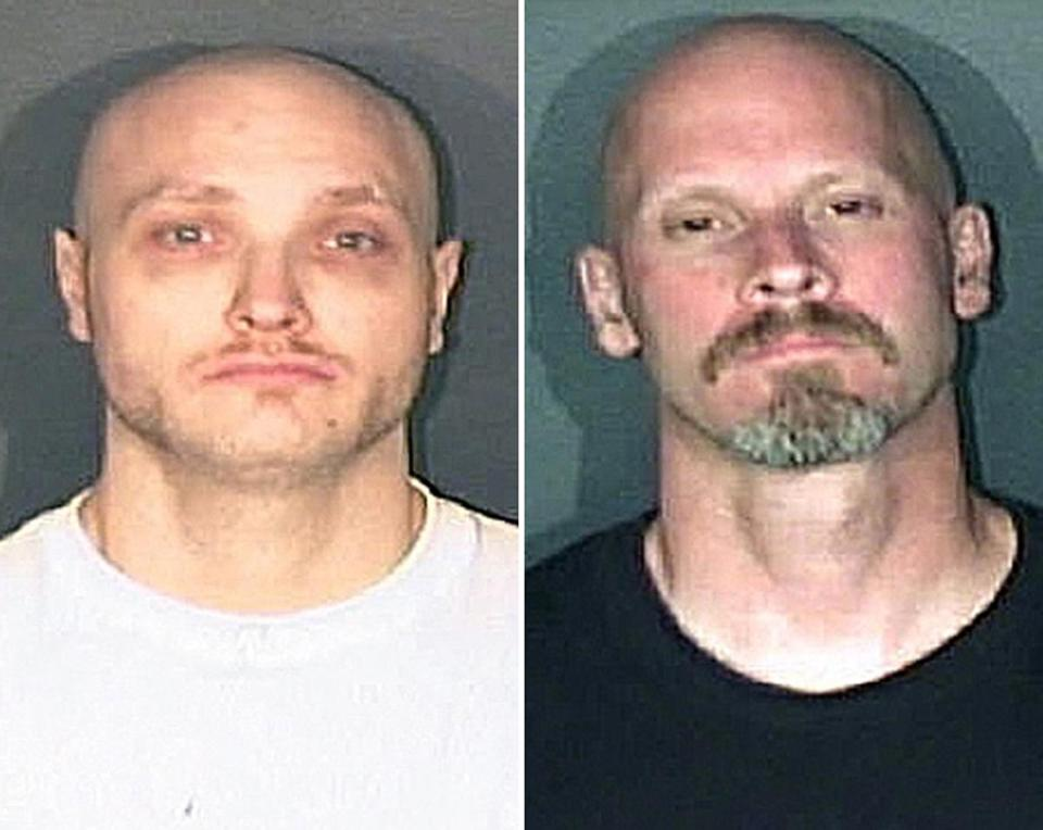Thomas James Guolee (left) and James Franklin Lohr are being sought for questioning.