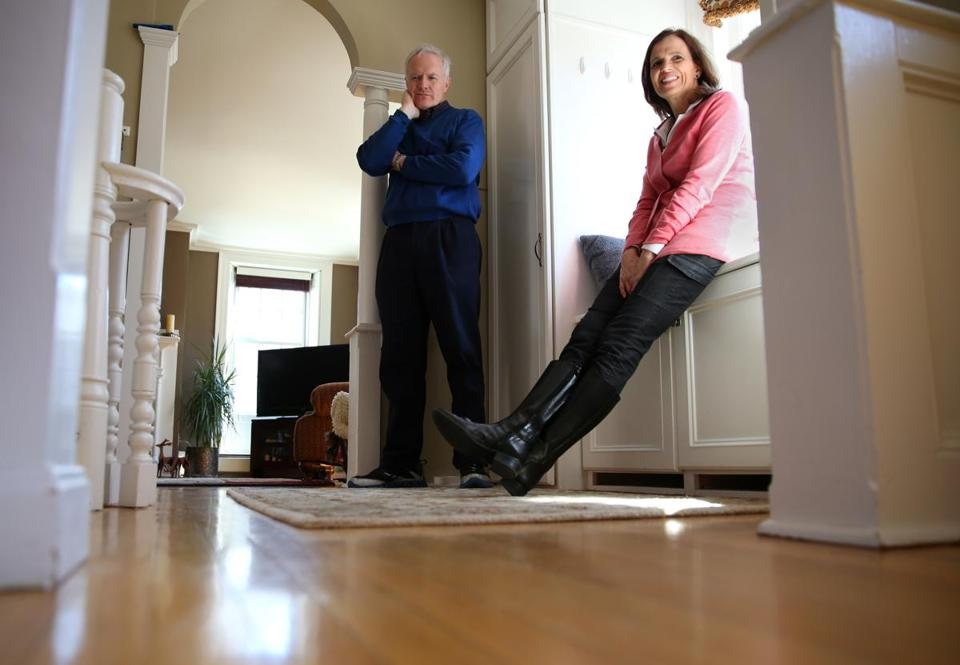 After their children moved out, Christine and Shawn Corr downsized from a Colonial in Concord to a condo in Charlestown.