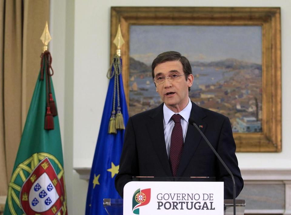 Portugal's Prime Minister Pedro Passos Coelho told his country Sunday to brace for even harder times.