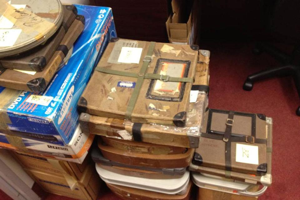 Some of Mark Rappaport's film materials are stored in the office of Ray Carney's lawyer.