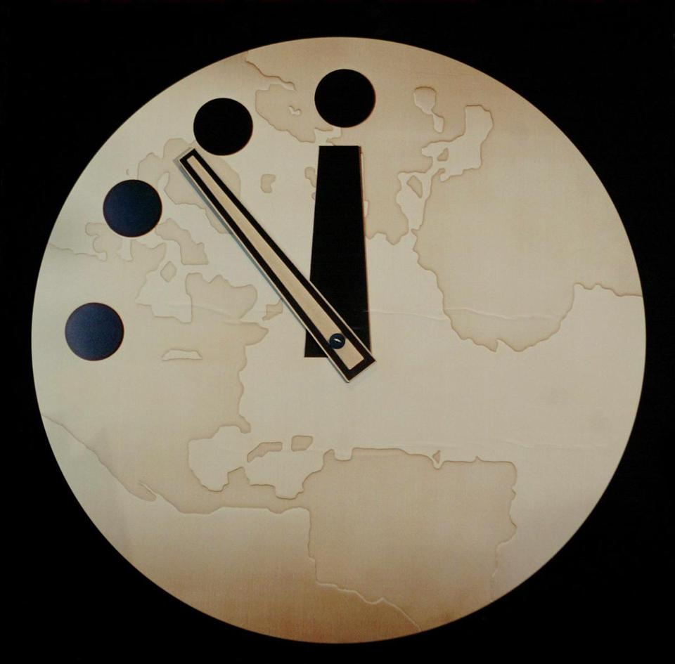 The Doomsday Clock made its debut in the June 1947 issue of the Bulletin of the Atomic Scientists.