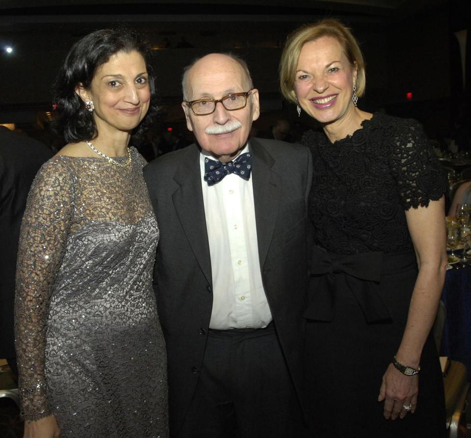 From left: Dr. Soheyla Gharib, honoree Dr. Marshall Wolf, and Dr. Betsy Nabel at the gala.