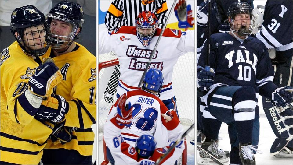 Quinnipiac, UMass-Lowell, Yale, and St. Cloud State are the fresh faces in the 2013 Frozen Four in Pittsburgh.