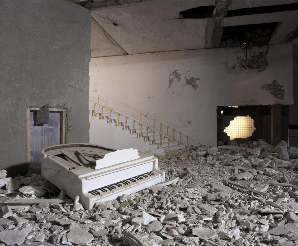 "Wafaa Bilal's tableau photograph ""Piano."""