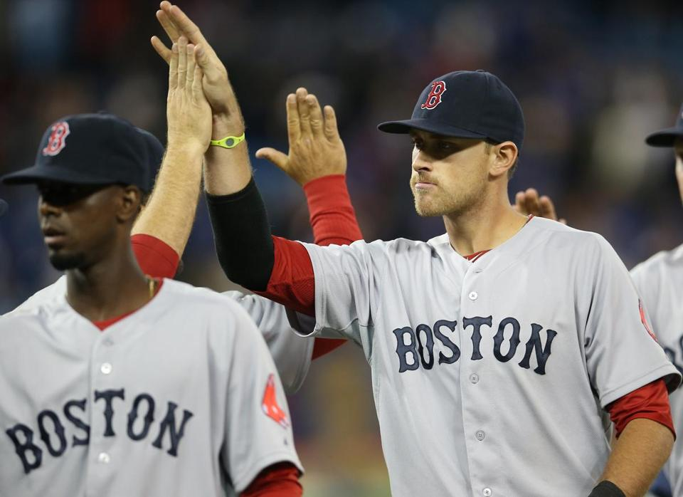 Will Middlebrooks was the center of attention after his three-home run performance on Sunday.
