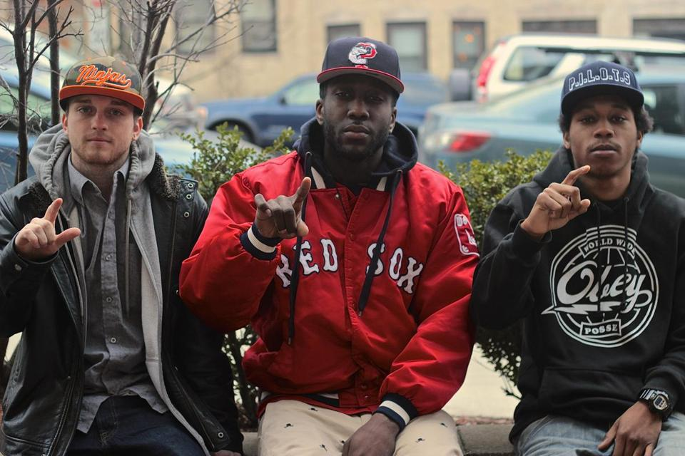 From left: Nick Gray, Jeff Replay, and Stizzy joined together to form Pilot Nation. The three perform at the Brighton Music Hall on April 18.
