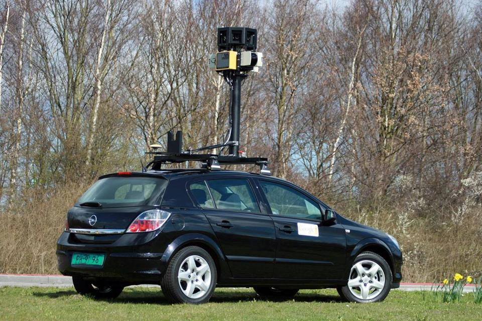 One of Google's street mapping cars. Lithuanian tax agency officials dismissed any claims that its new approach of using Street View violated privacy rights.