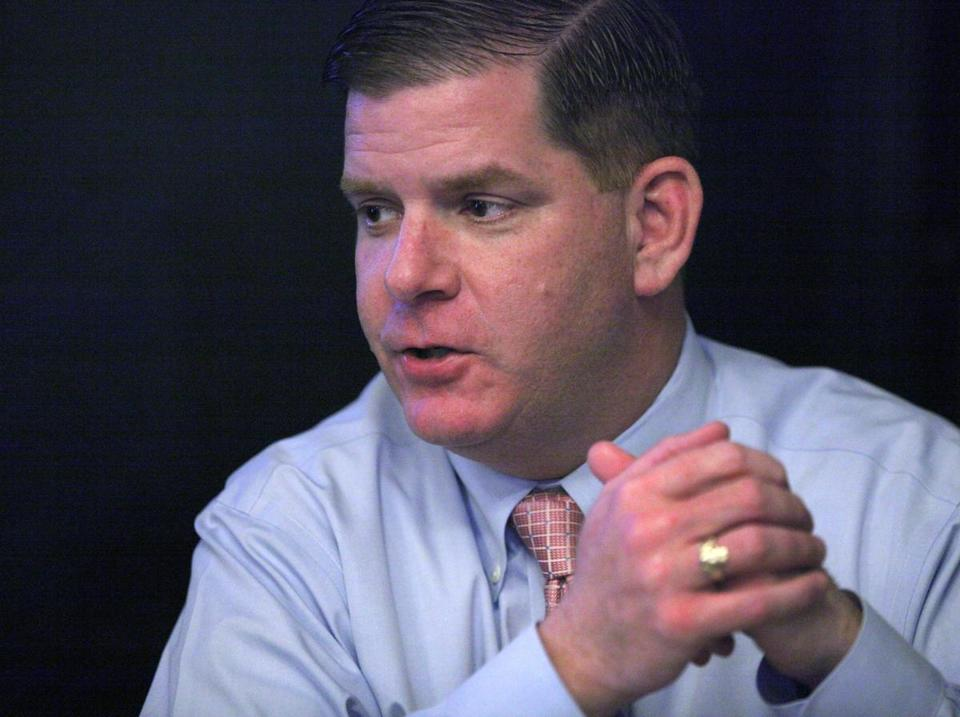 Boston, MA--4/10/2013--State Rep. Martin J. Walsh (cq) talks about his decision to run for mayor, on Wednesday April 10, 2013. Photos by Pat Greenhouse/Globe Staff Topic: 11mayor Reporter: Andrew Ryan