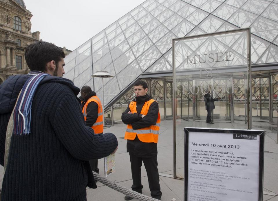 A Louvre spokeswoman could not say when it would open.