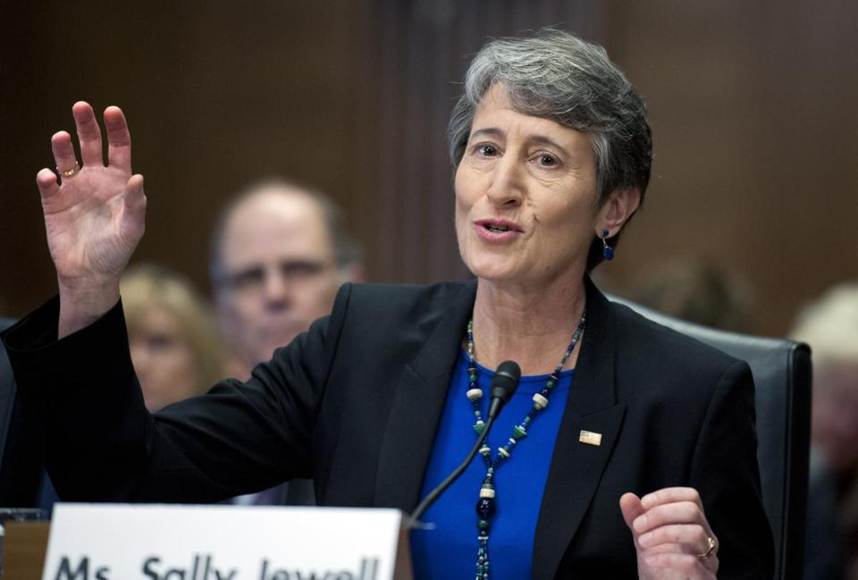Sally Jewell will oversee more than 500 million acres of national parks and other public lands.